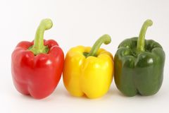 Colored peppers Royalty Free Stock Photo