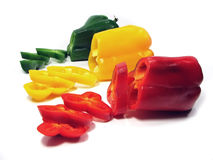 Colored peppers Stock Photo