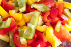 Colored Peppers mixed Royalty Free Stock Photography