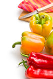 Colored peppers Royalty Free Stock Images