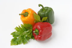 Colored peppers Royalty Free Stock Photos