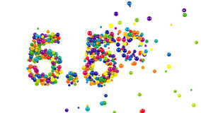 Colored 5.5 percent number on white stock footage