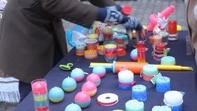 Colored and perfumed candles for sale stock footage