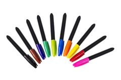 Colored Permanent Markers stock photography