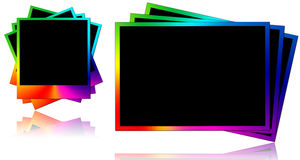 Colored photo frames royalty free stock photos