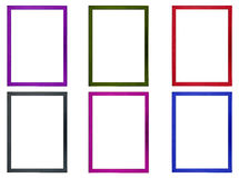 Colored Photo Frames. Six fiber colored photo frames Royalty Free Stock Photo