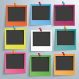 9 Colored Photo Frames Royalty Free Stock Photo