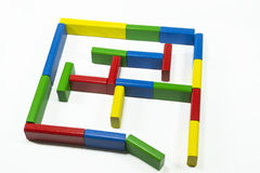 Colored pieces maze Stock Photography