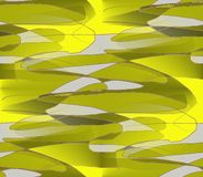 Colored pieces of superimposed yellow, olive Stock Photography