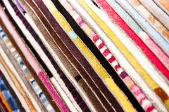 Colored pile of carpet Royalty Free Stock Photography