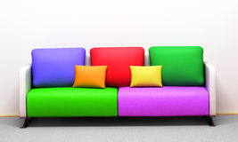 Colored pillows Royalty Free Stock Photos