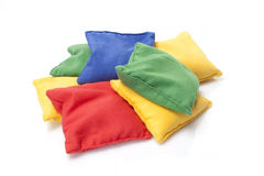 Colored Pillows. On white background Stock Images