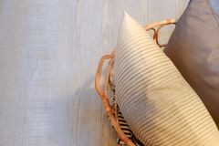 Details of modern cozy interior stock photo