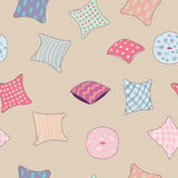 Colored pillows cushions pattern Stock Images