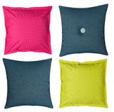 Colored pillows on white background Stock Images