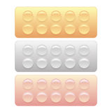 Colored Pills Blisters Stock Photos