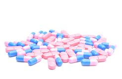 Colored pills and capsules Royalty Free Stock Image