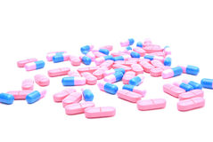 Colored pills and capsules Stock Image