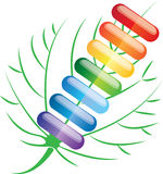Colored pills capsules, vector illustration Royalty Free Stock Images