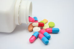 Colored pills Stock Photography
