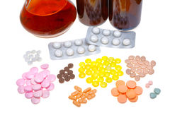 Colored pills Royalty Free Stock Images