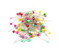 Colored pin heads Stock Images