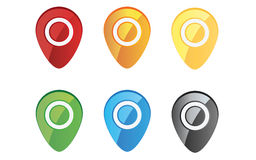 Colored Pin Set Royalty Free Stock Image
