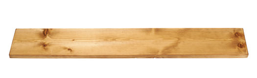 Colored pine wood board plank isolated Royalty Free Stock Photo