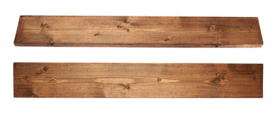 Colored pine wood board plank isolated Stock Photos
