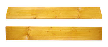 Colored pine wood board plank isolated stock photo