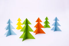Colored pines Stock Photos