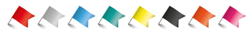 Free Colored Pins Flags Header Stock Images - 74949724