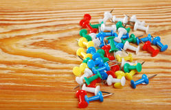 The colored pins Royalty Free Stock Photo