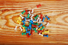 The colored pins Royalty Free Stock Image