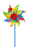 Colored pinwheel. Isolated on white background Royalty Free Stock Images