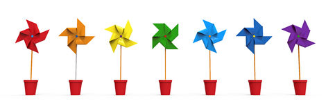 Colored Pinwheel Stock Images