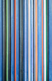 Colored Pipes. Vertical orientation and cold colors dominating Stock Image