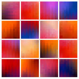 Colored pixel backgrounds Stock Photography