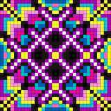 Colored pixel psychedelic background vector illustration Royalty Free Stock Photography