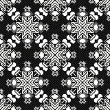 Colored pixels in retro style tribal vintage seamless pattern Royalty Free Stock Photos