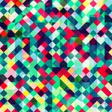 Colored pixels seamless pattern Royalty Free Stock Photo