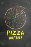 Colored pizza menu concept Stock Photography