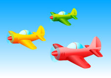 Colored Planes Royalty Free Stock Photo