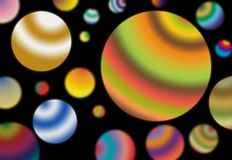 Colored planets Royalty Free Stock Photo