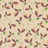 Colored plant on a beige background. Royalty Free Stock Image
