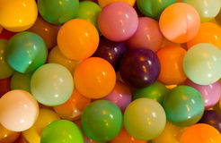 Colored plastic air-filled balls. Royalty Free Stock Photography
