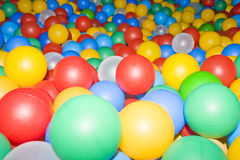Colored plastic balls royalty free stock photo
