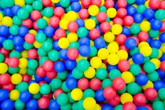 Colored plastic balls. Background. Texture royalty free stock photo