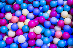 Colored  plastic balls in the pool for children to play Stock Images