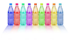 Colored plastic bottles Royalty Free Stock Photography